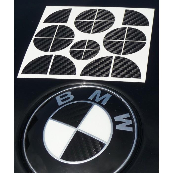 bmw emblem dekor aufkleber carbon. Black Bedroom Furniture Sets. Home Design Ideas