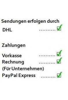 Geh auf Versand und Zahlung